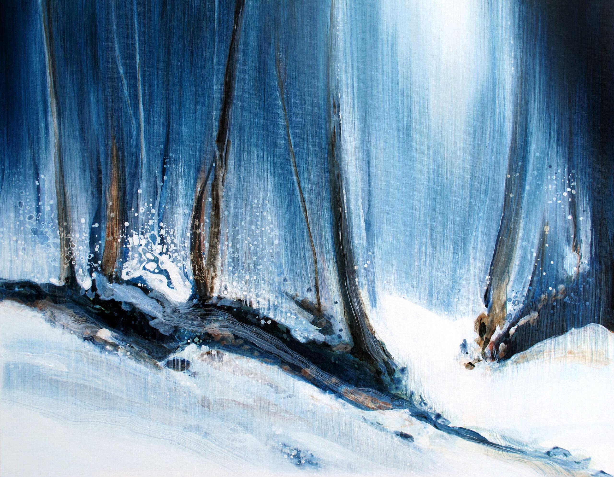 Entre Aire et sur Terre n° A031020 -Acrylique sur toile - 73x92 cm