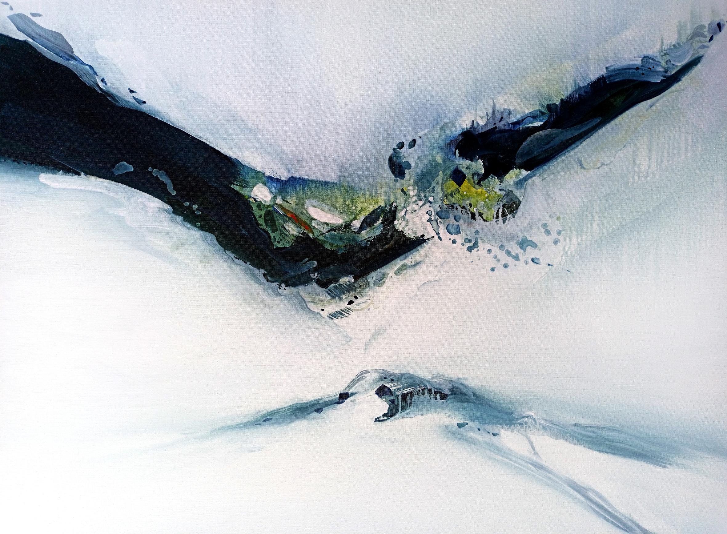 Entre Air et sur Terre n° A09101420 - Acrylique sur toile - 89x116 cm