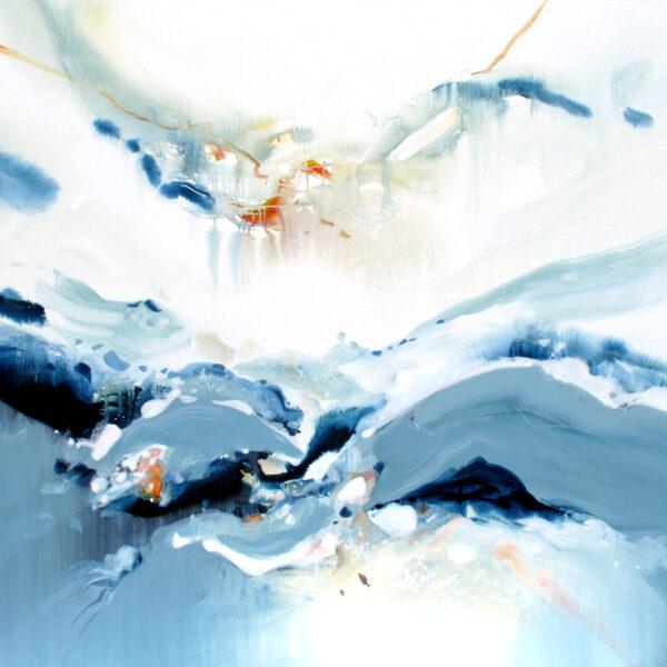 Entre Air et sur Terre n° A110621 - Acrylique sur toile - 120x160 cm