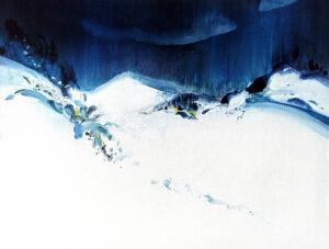 Entre Air et sur Terre n° A110920 - Acrylique sur toile -89x116 cm