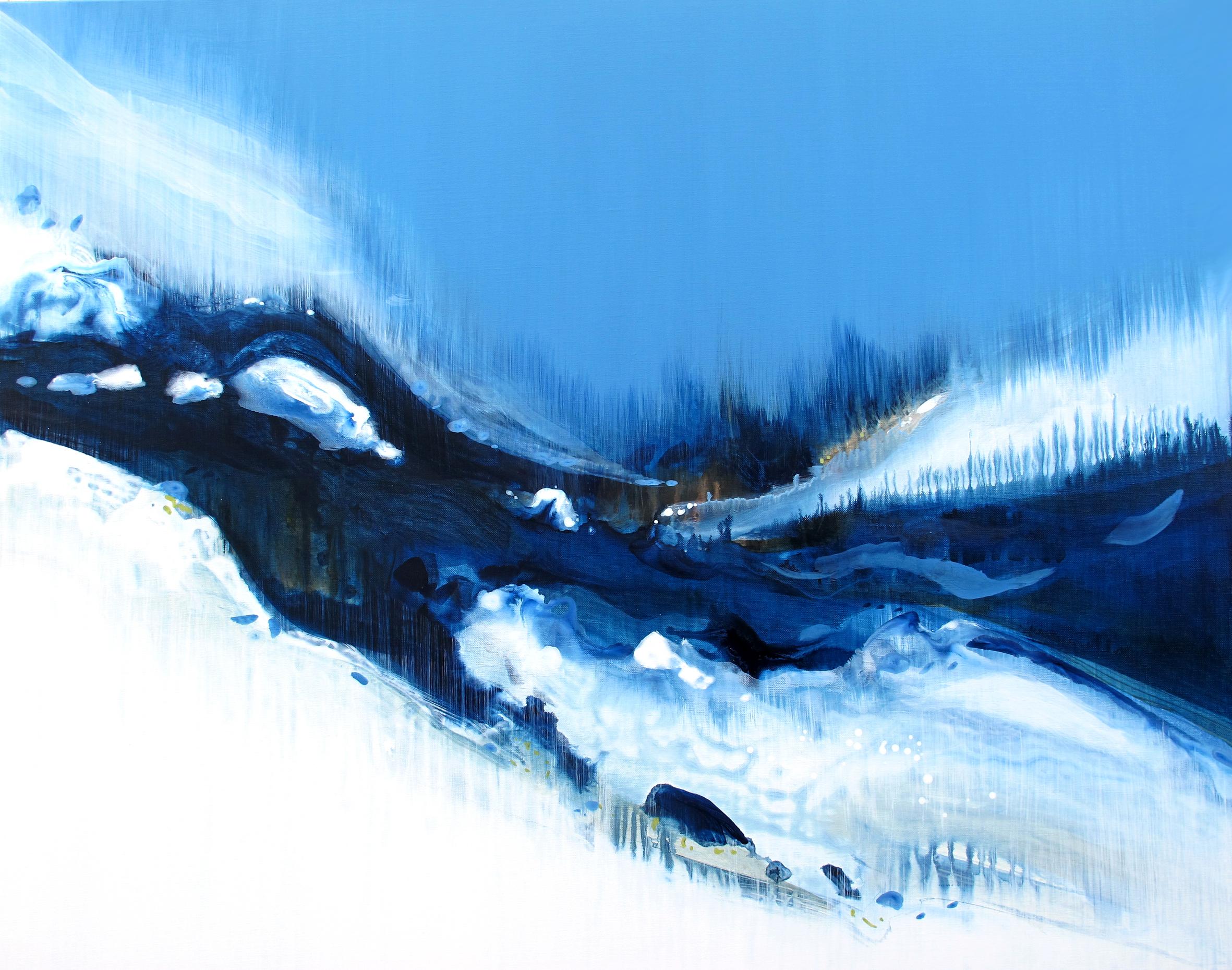 Entre Air et sur Terre n° A190621 - Acrylique sur toile -73x92 cm