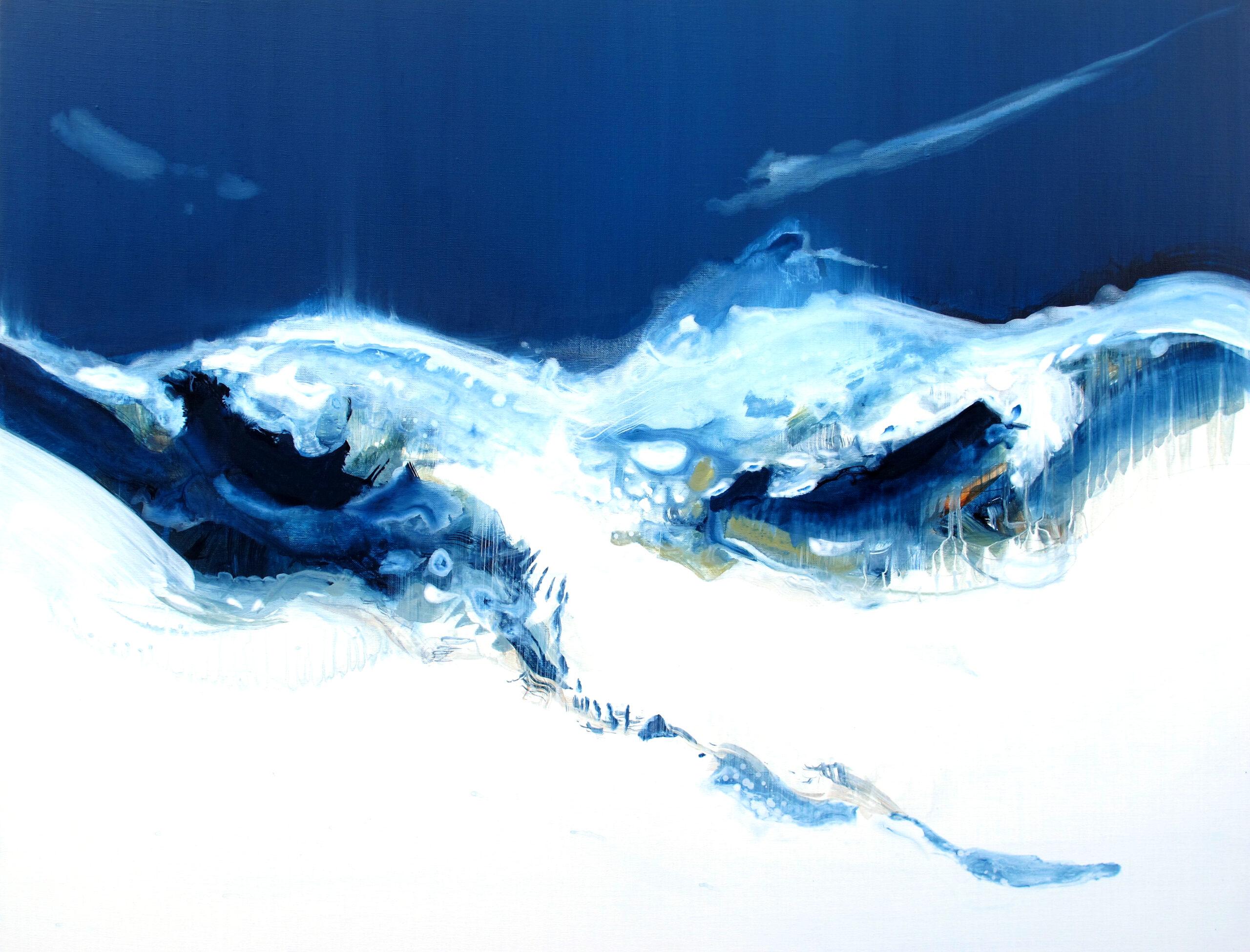 Entre Air et sur Terre n° A200621 - Acrylique sur toile -73x92 cm
