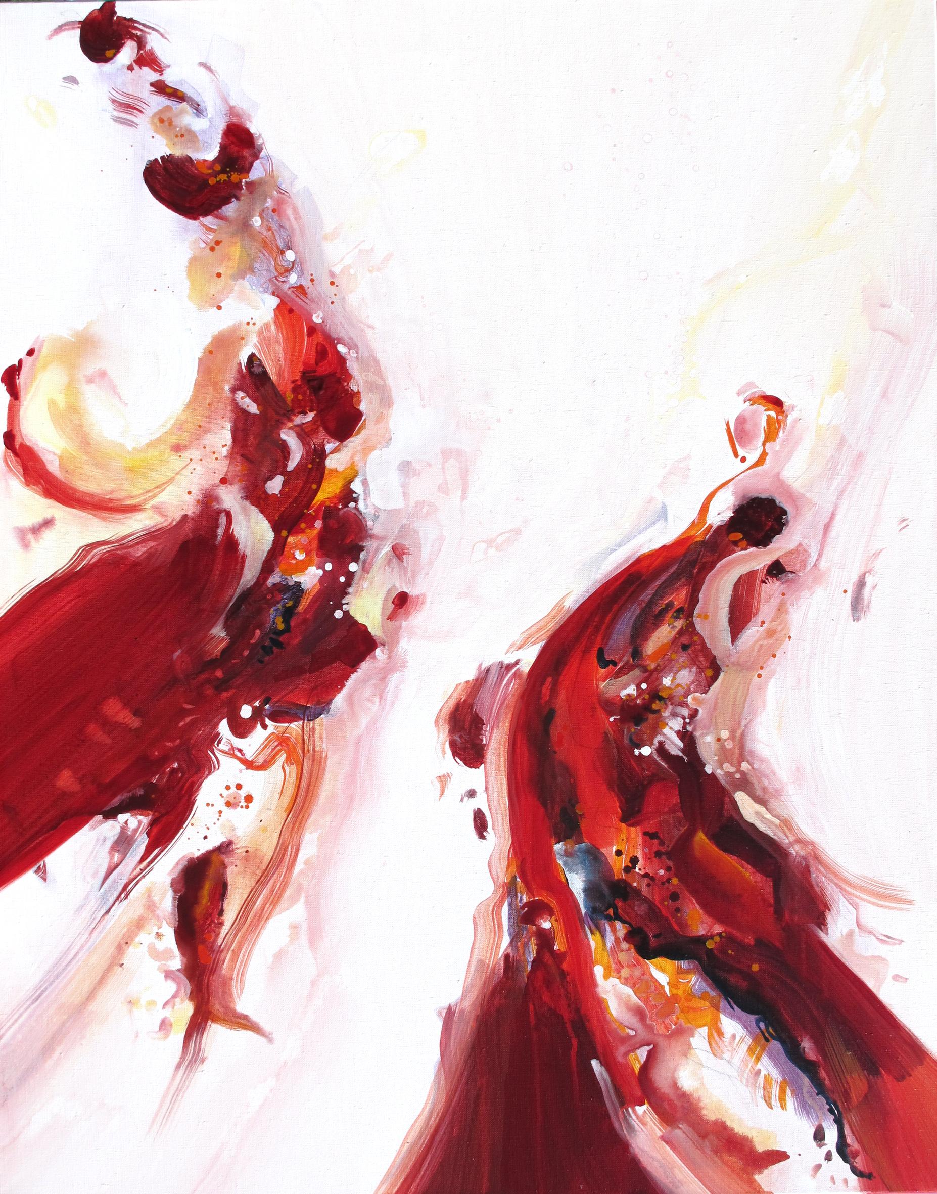 Entre Elle et Blanche n° A020519 - Acrylique sur toile - 92 x 73 cm