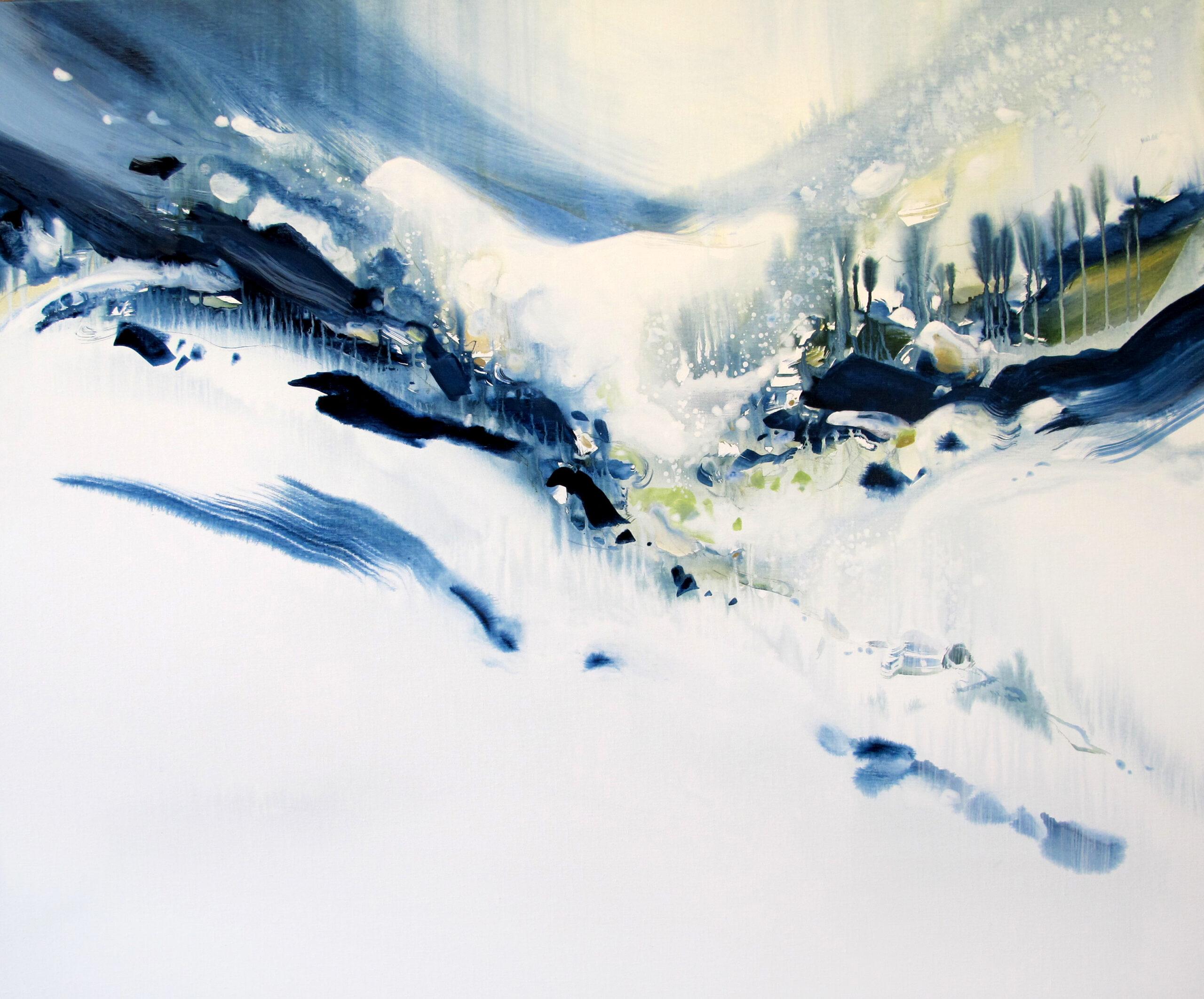 Entre Elle et Blanche n° A070621 - Acrylique sur toile - 100x120 cm