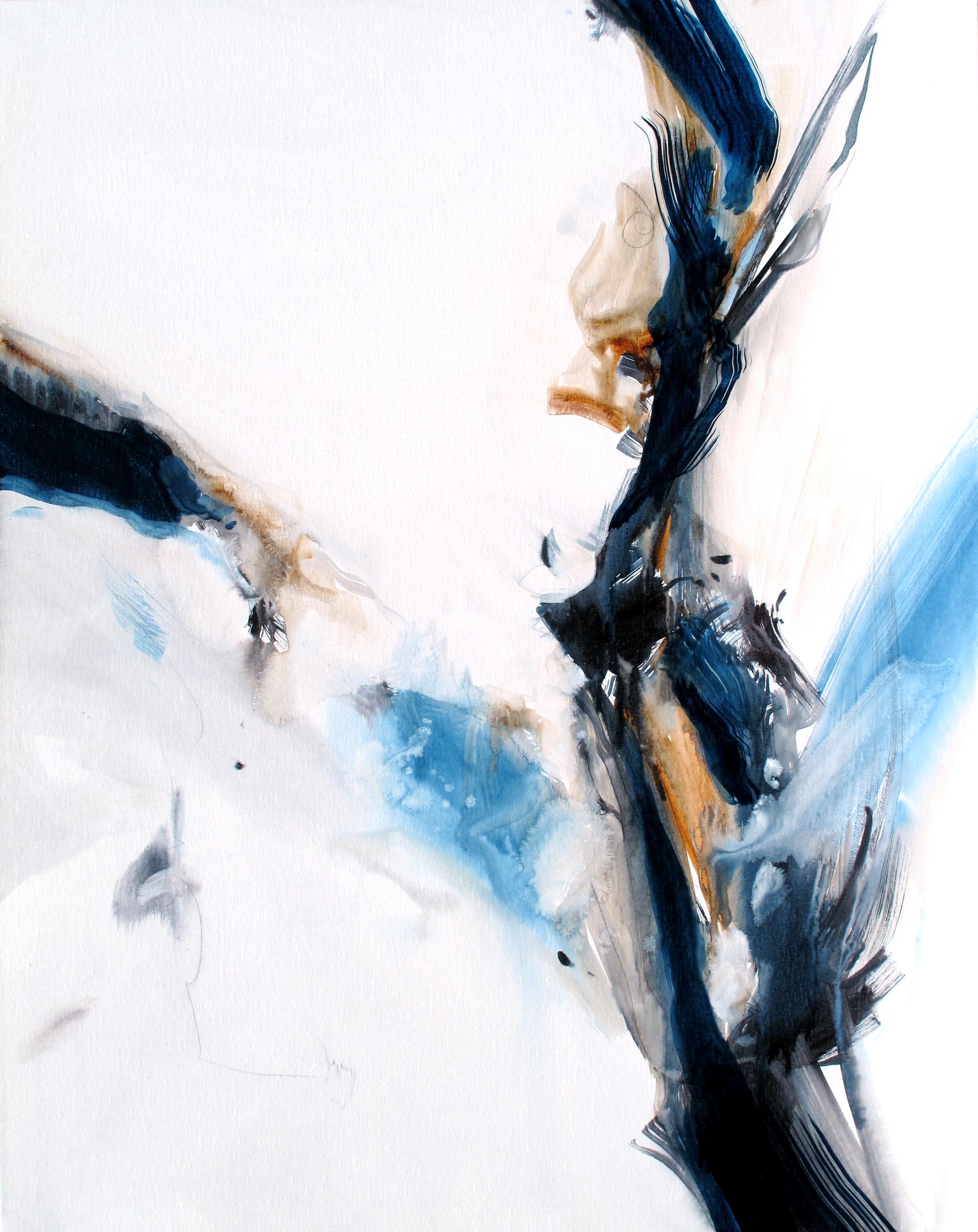 Entre Elle et Blanche n° A100621 - Acrylique sur toile - 100 x 80 cm