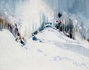 Entre Air et sur Terre n°A011217 - Acrylique sur toile - 73 x 92 cm